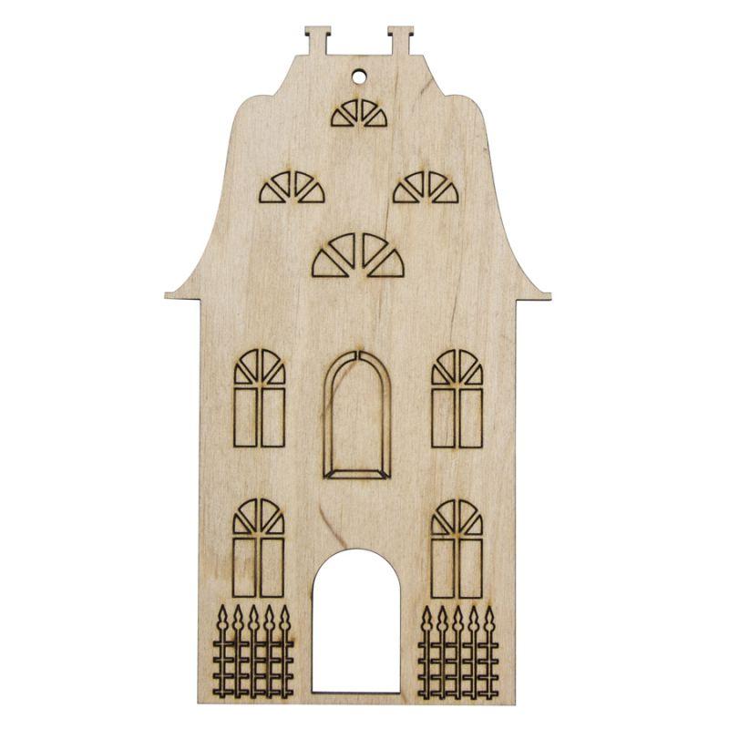 Фигурка для раскрашивания деревянная Домик 15х8,5 см Rosa talent