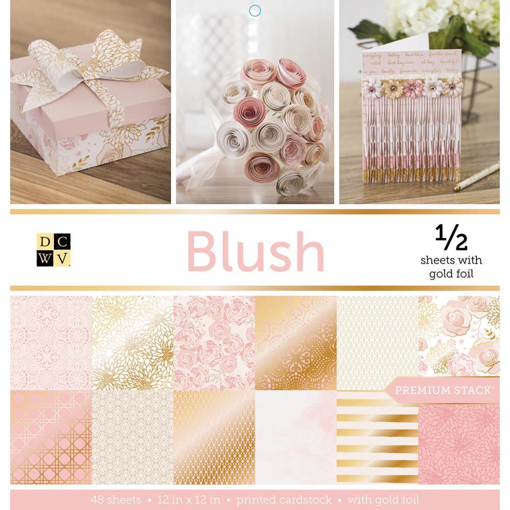 Набор бумаги с золотым тиснением Blush, 24 листа от DCWV