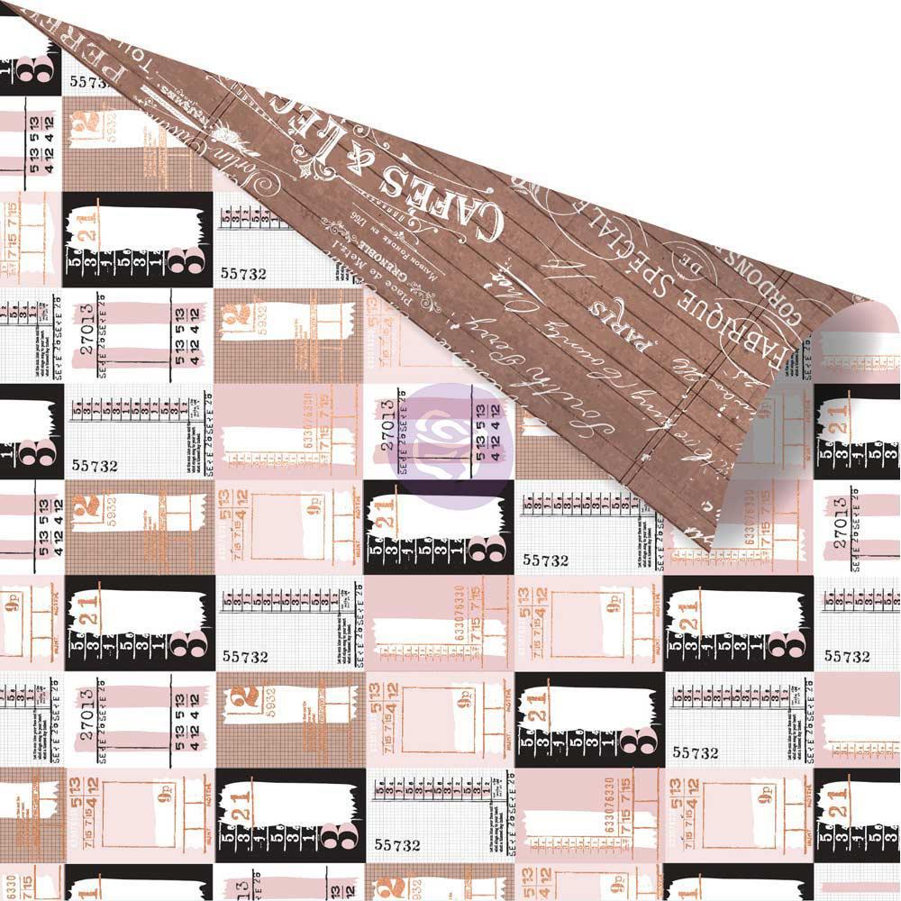 Двусторонняя скрапбумага Ticket Collector - Amelia Rose, 30x30 Prima