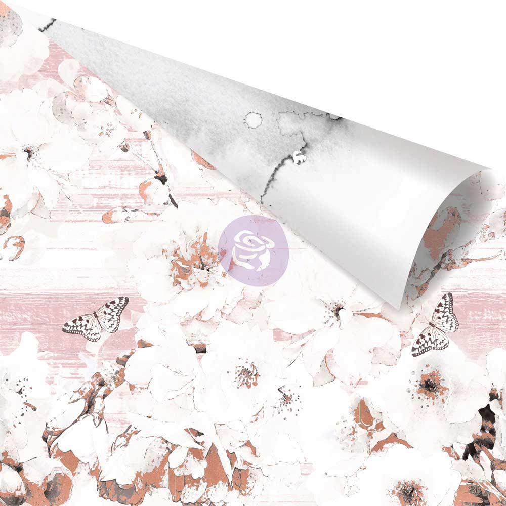 Двусторонняя скрапбумага Beautiful Remarks - Cherry Blossom, 30x30 Prima