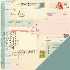 Двусторонняя бумага для скрапбукинга Passport - Postcard от Making Memories