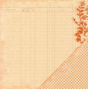 Двусторонняя скрапбумага Sienne Reverie - Ledger Silhouette от Making Memories
