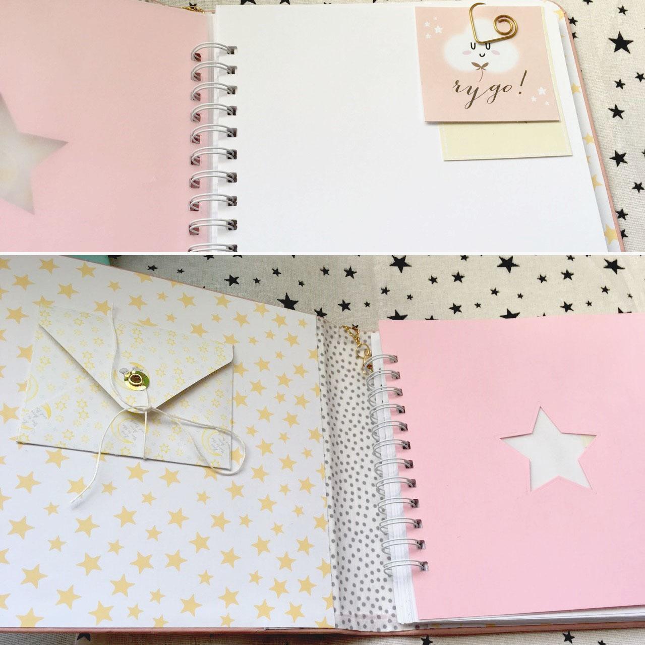 Бебибук My Little Princess, размер 20х20 см, 27 листов, розовая обложка из кожзама