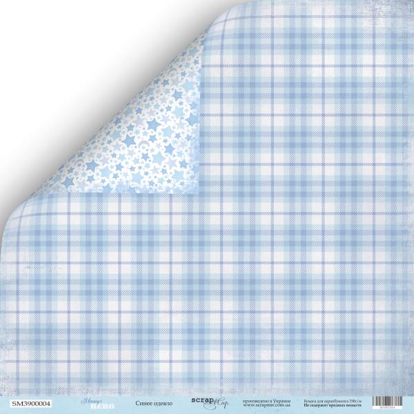 Лист двусторонней бумаги 30x30 Синее Одеяло Mommy's Hero Scrapmir