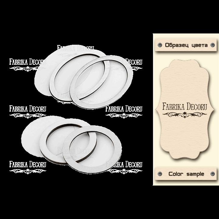 Набор заготовок для шейкеров Круг и овал бежевый Фабрика Декору
