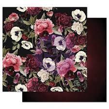 Двусторонняя бумага  Midnight Garden -Midnight garden, с фольг., 30х30 см, Prima