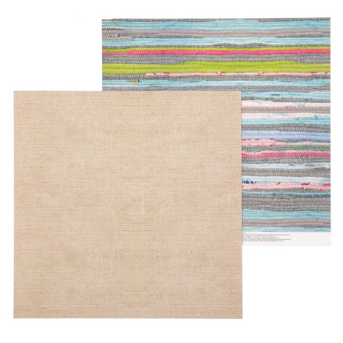 Бумага для скрапбукинга Дачный коврик 30.5х30.5 см 180 г/м, Артузор
