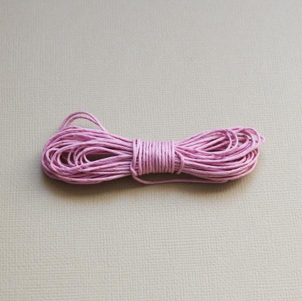 Вощеный шнур ярко-розового цвета 5 м.