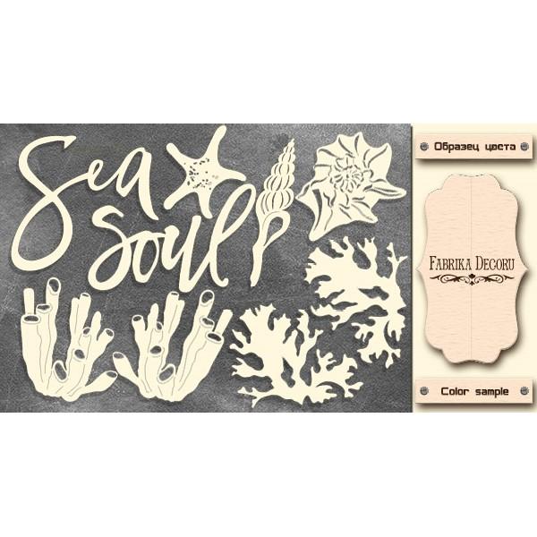 Набор чипбордов,ов Sea soul, молочный, Фабрика Декору