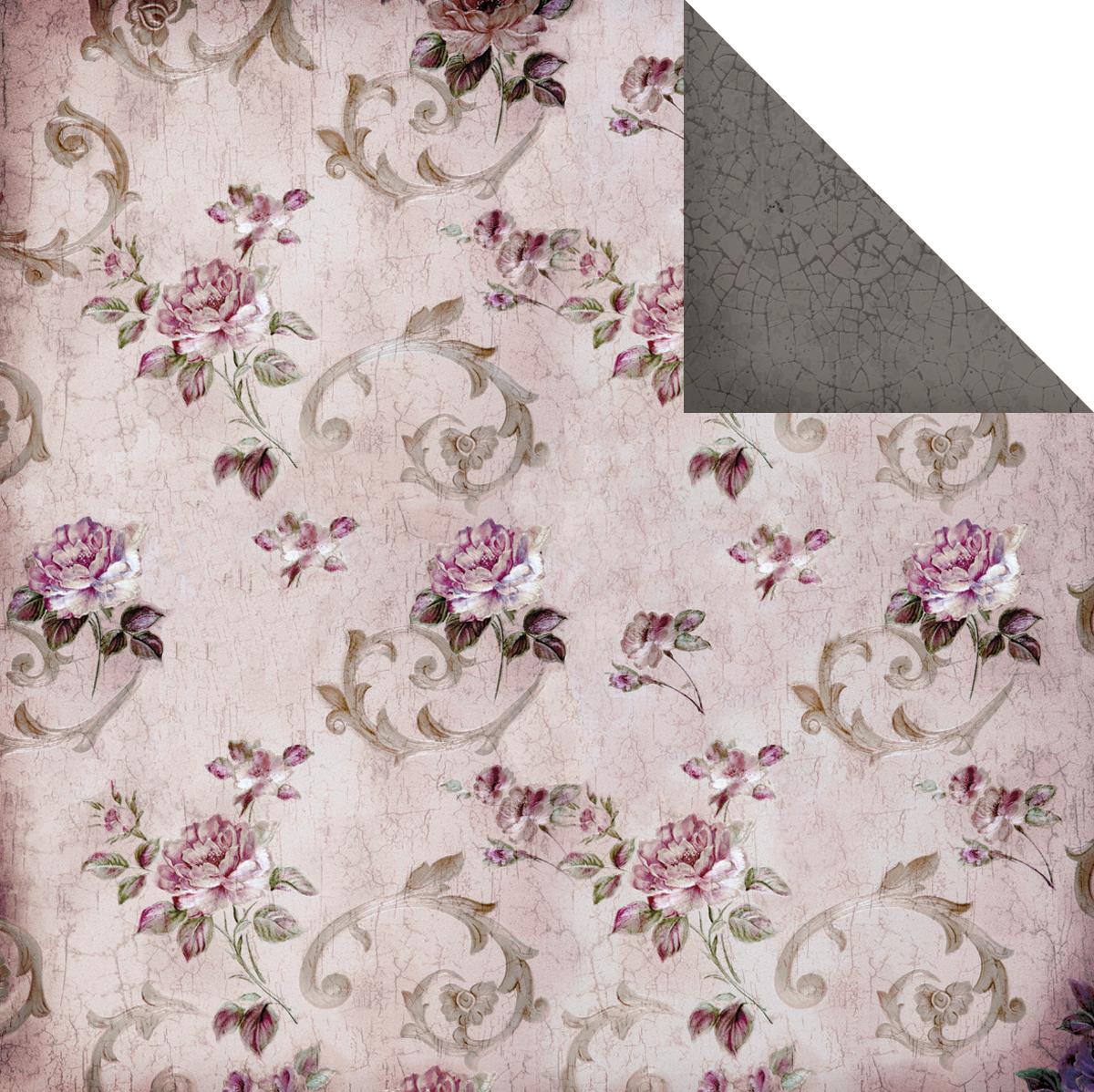 Двусторонняя скрапбумага Floral 30х30 от Fabscraps