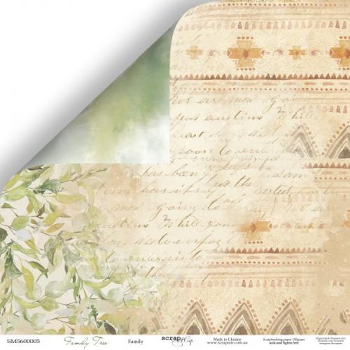 Лист двусторонней бумаги 30x30 Scrapmir Семья - Family Tree