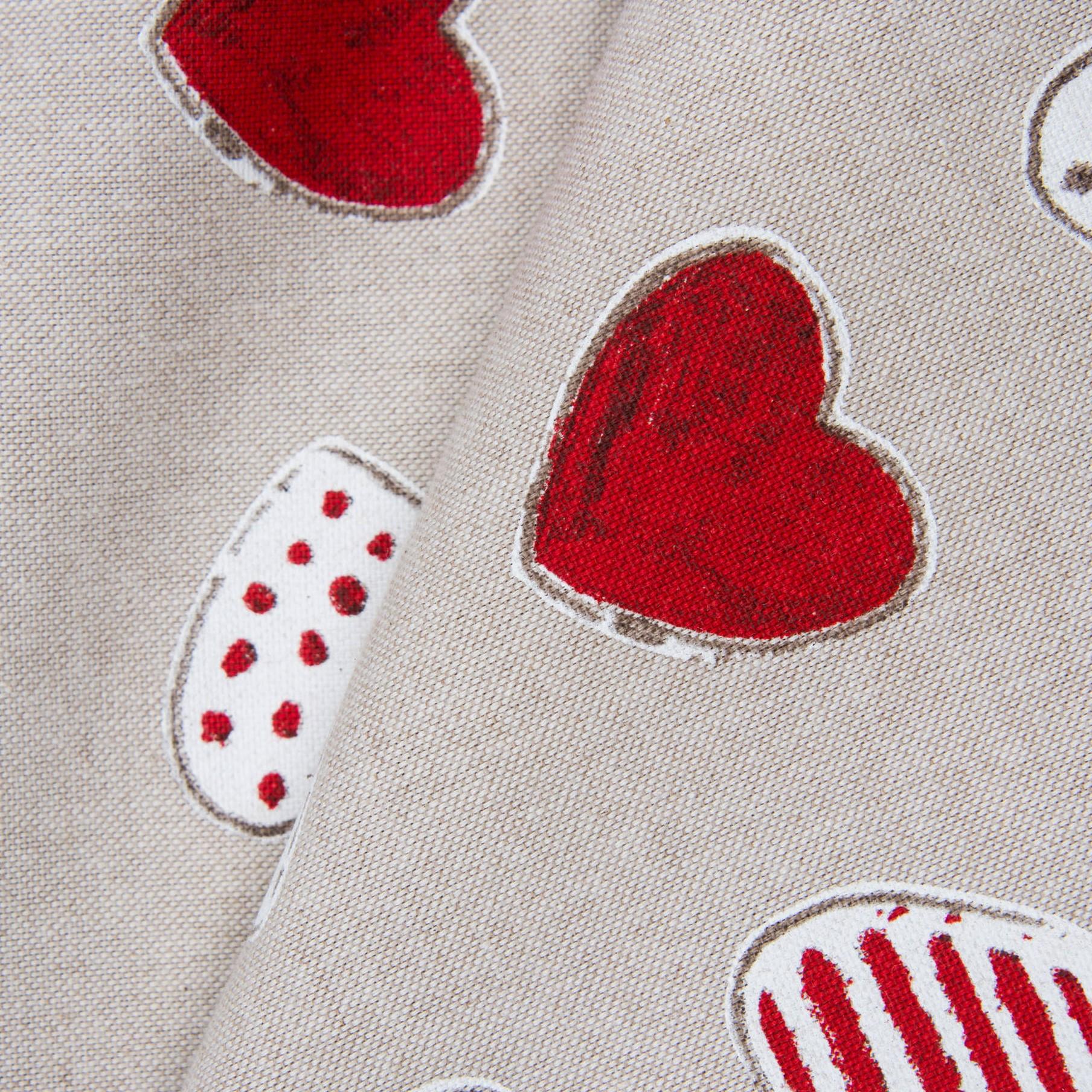 Ткань Сердечки, хлопок 85%, плотность 200, 55х70 см