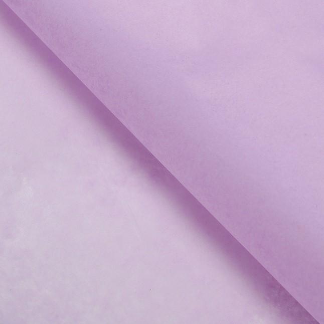 Тишью бумага, 75х50 см, 18 г/м2, лавандовый
