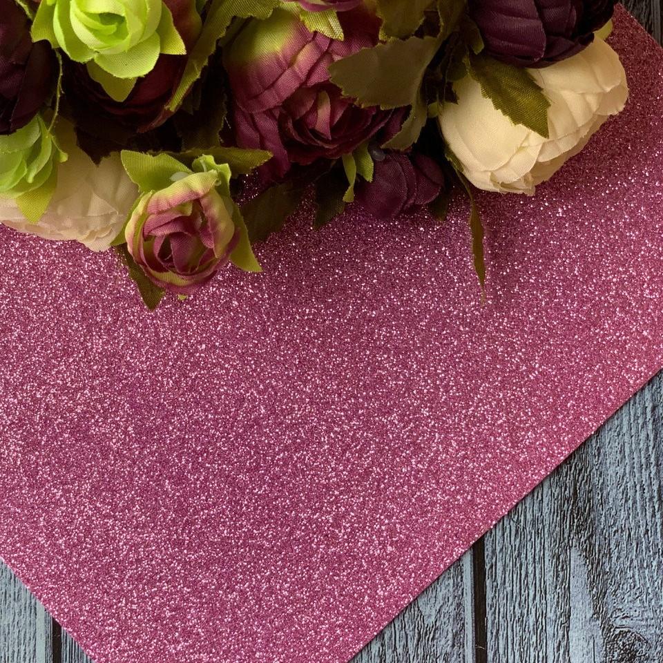 Фоамиран глиттер 20 х 30, розовый, 2 мм