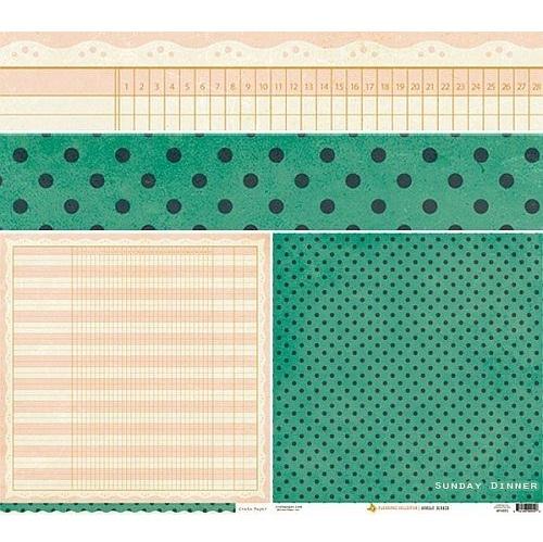 Двусторонняя скрапбумага Farmhouse - Sunday Dinner от Crate Paper