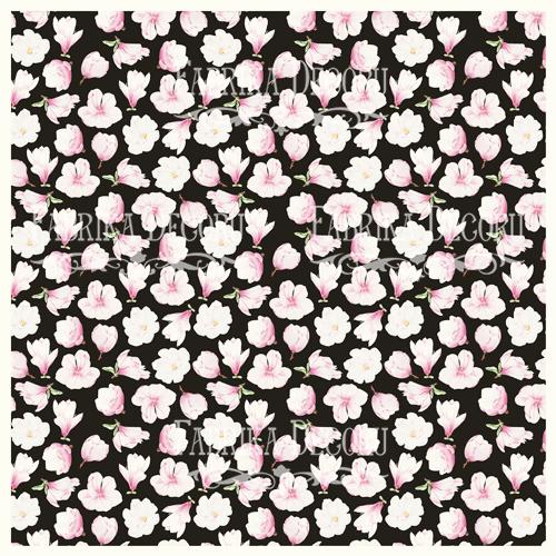 Деко веллум (лист кальки с рисунком) Магнолия на черном, Фабрика Декору