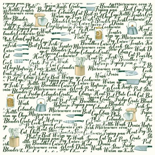 Деко веллум (лист кальки с рисунком) Записки кулинара, Фабрика Декору