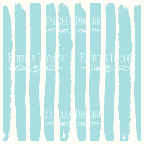 Деко веллум (лист кальки с рисунком) Бело-голубые полосы, Фабрика Декору