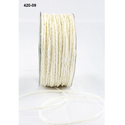 """Бумажный шнур """"Paper Cord"""" бежевый 2 мм 90 см от May Arts"""