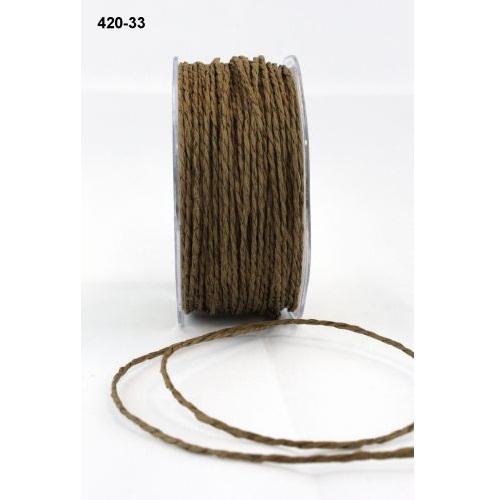 "Бумажный шнур ""Paper Cord"" коричневый  2 мм,  90 см от May Arts"