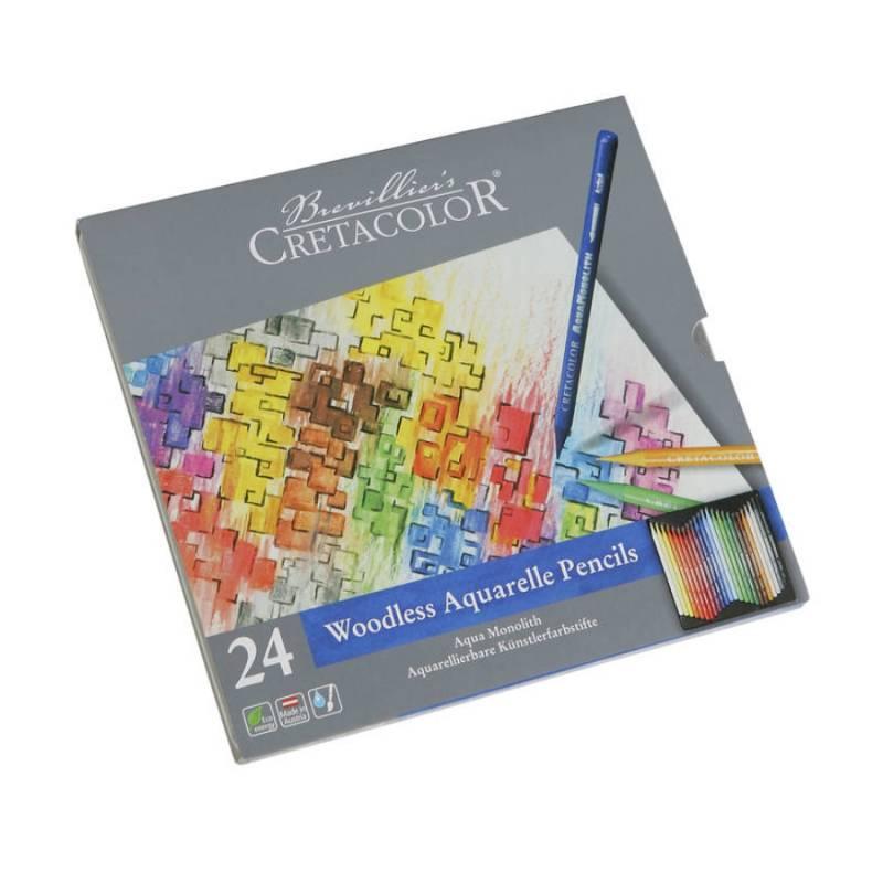 Акварельные карандаши AQUA MONOLITH 24шт Cretacolor