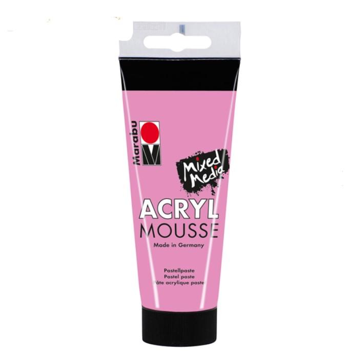 Акриловая Mousse - паста, Розовая, 100 мл, Marabu