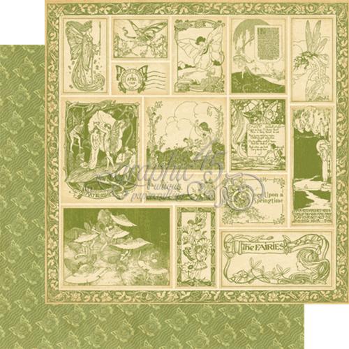 Двусторонняя скрапбумага Enchanted Forest от Graphic 45