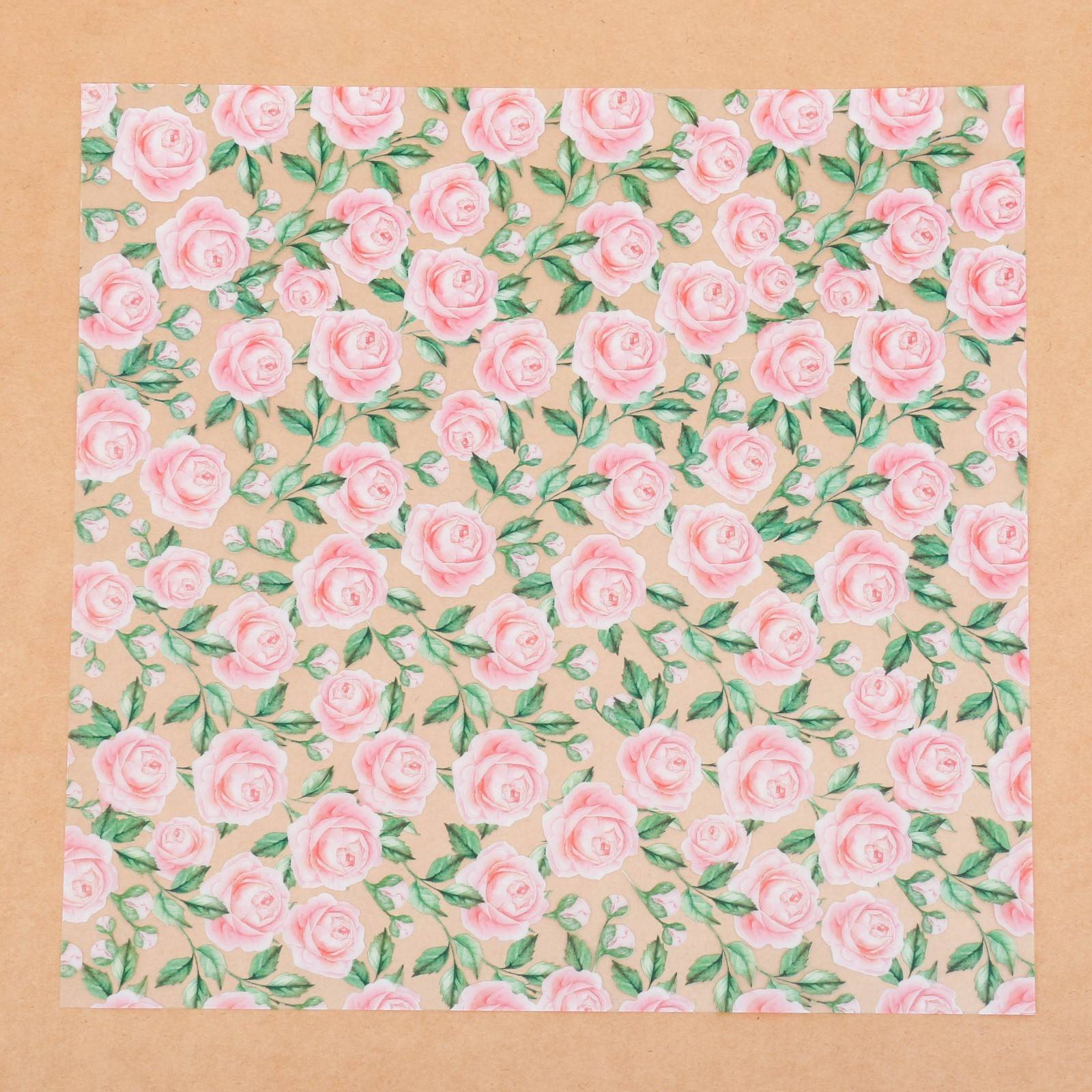 Ацетатный лист, Букет невесты, 30,5×30,5 см, АртУзор