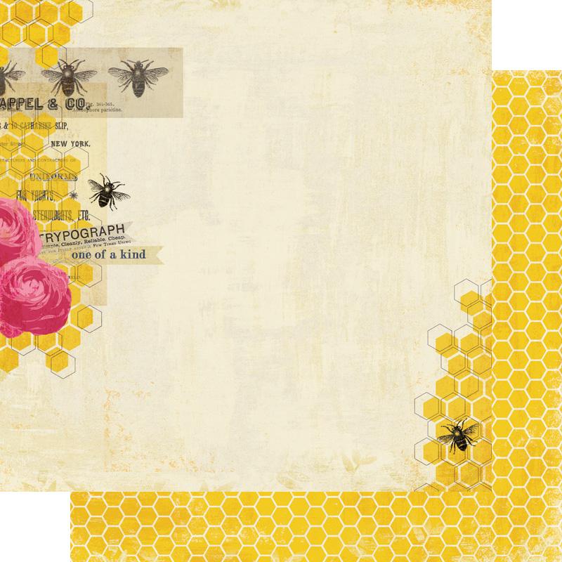 Двусторонняя бумага Perfect Best- Honey 30x30 см от My Mind's Eye