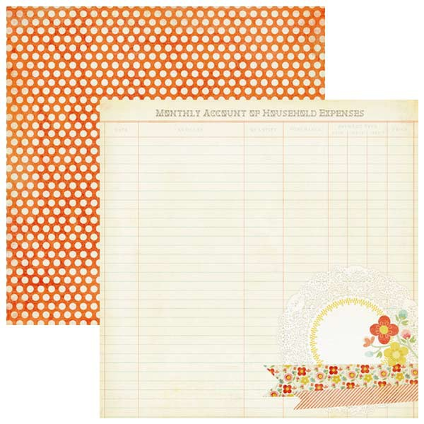 Двусторонняя бумага Sunshine Beam 30x30 см от My Mind's Eye