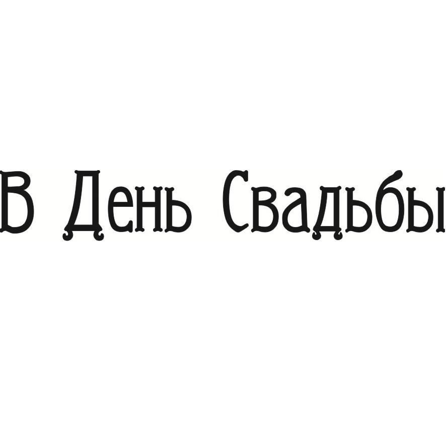 """Акриловый штамп """"В день свадьбы"""" 7.5см х 1.2см"""