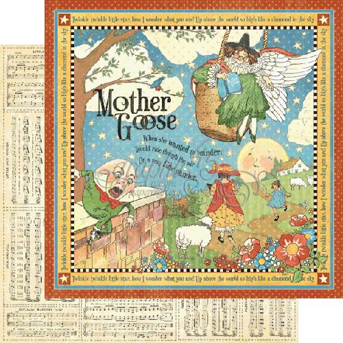 Двусторонняя скрапбумага Mother Goose, Mother Goose 30x30 от Graphic 45