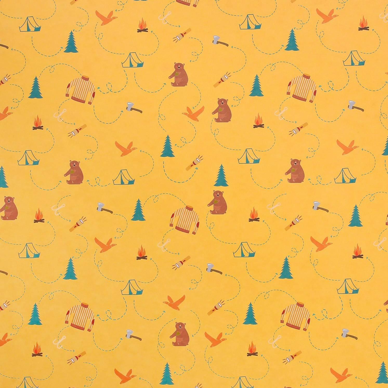 Бумага для скрапбукинга, Охота и рыбалка, 30,5×32 см, 180 г/м, АртУзор