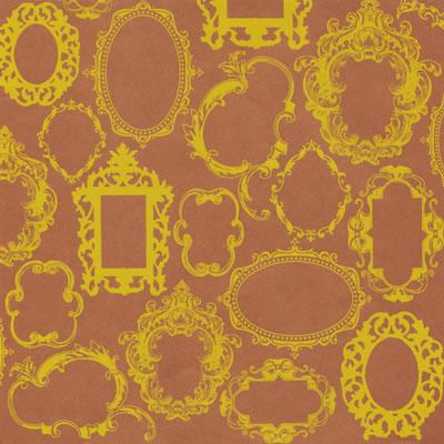 Двусторонний лист бумаги  30x30 см Frame Wallpaper Yellow Ink от Hambly