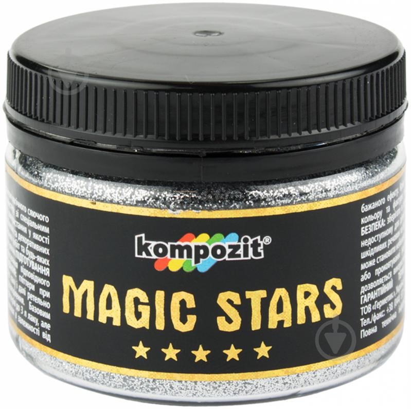 Глиттер MAGIC STARS Kompozit (серебро, 60 г), ART Kompozit