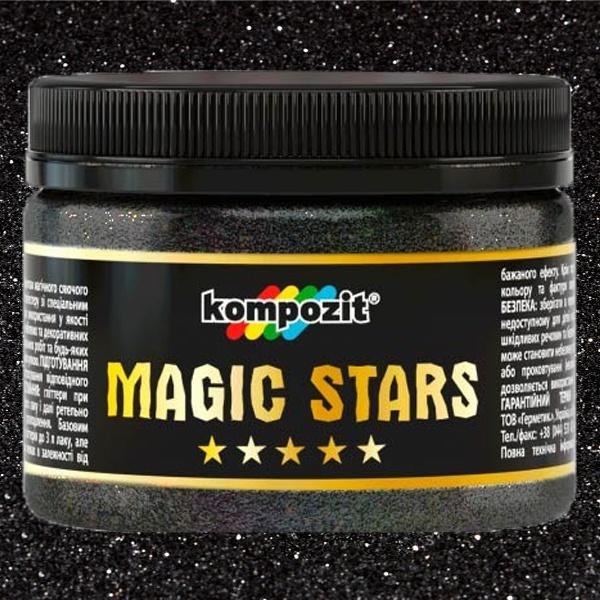Глиттер, Magic Stars, Kompozit, черный бархат, 60 г, Art Kompozit