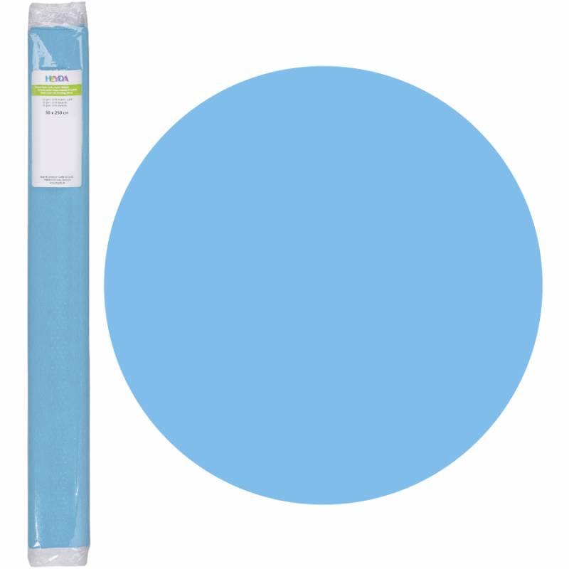 Бумага креповая, Голубой, 50 * 250см, 32г / м2, Heyda