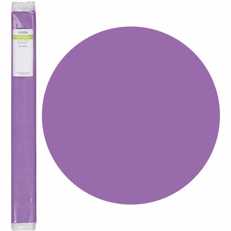 Бумага креповая, Лиловый, 50 * 250см, 32г / м2, Heyda
