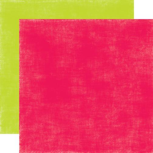 Двусторонний лист бумаги Red/Green Distressed 30x30 cм от Echo Park