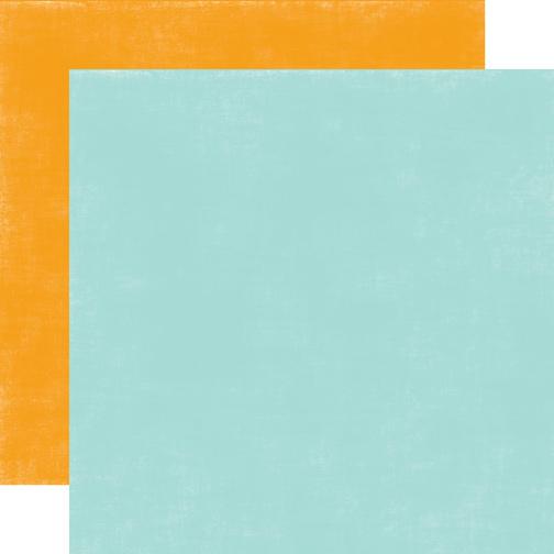 Двусторонний лист бумаги Blue/Orange Distressed 30x30 cм от Echo Park