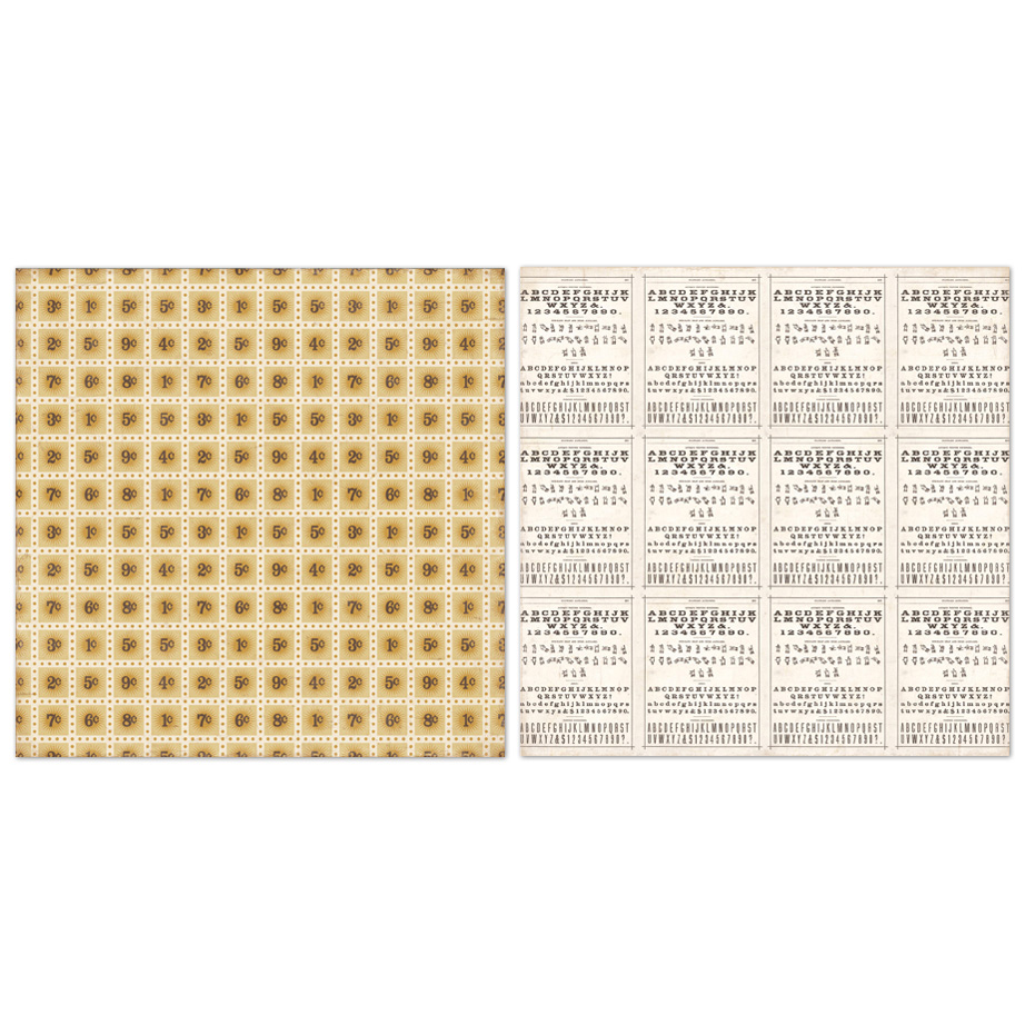 Двусторонний лист бумаги Stamps 30x30 cм от Echo Park