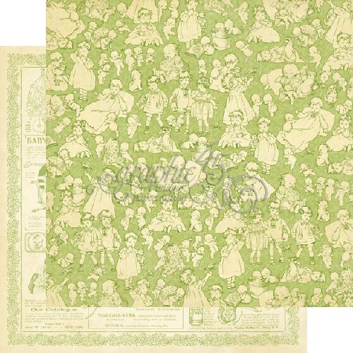 Двусторонняя бумага Kewpie Cute 30x30 см от Graphic 45