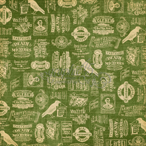 Двусторонняя бумага Apothecary 30x30 см от Graphic 45