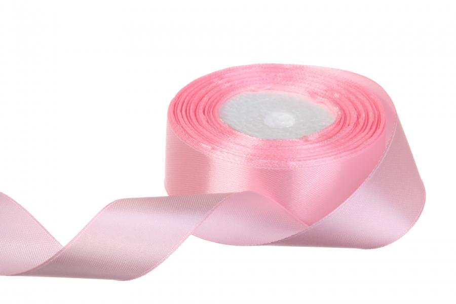 Атласная лента, рулон, #04, светло-розовый, 25 мм, 23 м