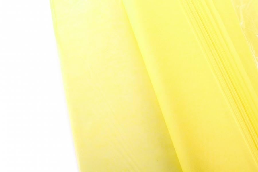 Бумага тишью, жёлтый, 75х50см, 18 г/м²