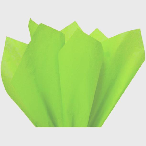 Бумага тишью, салатовый, 75х50см, 18 г/м²