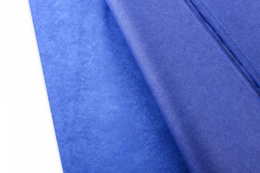 Бумага тишью, синий, 75х50см, 18 г/м²