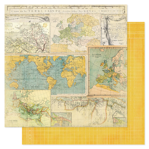 Двусторонняя бумага Worldwide 30х30 см от Heidi Swapp