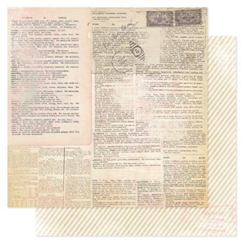 Двусторонняя бумага Textbook 30х30 см от Heidi Swapp