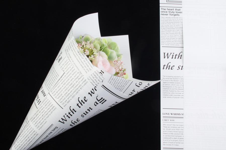 Бумага-калька с газетным принтом, 60х60 см